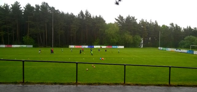 Training bei Regen